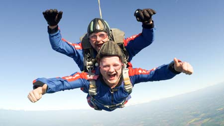 Tandem Skydiving Mid to North West Midlands